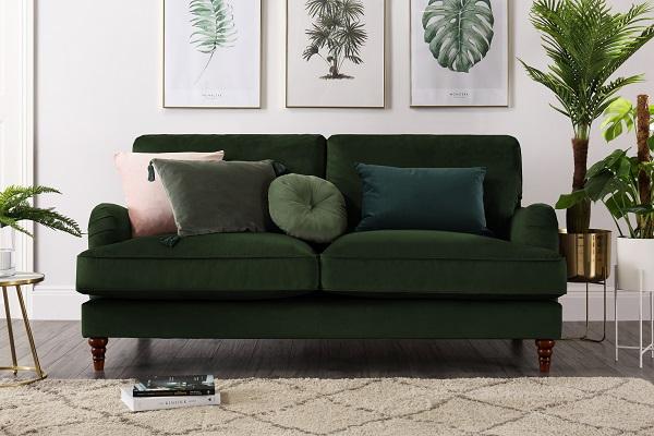 Charleston Emerald Green Velvet Sofa