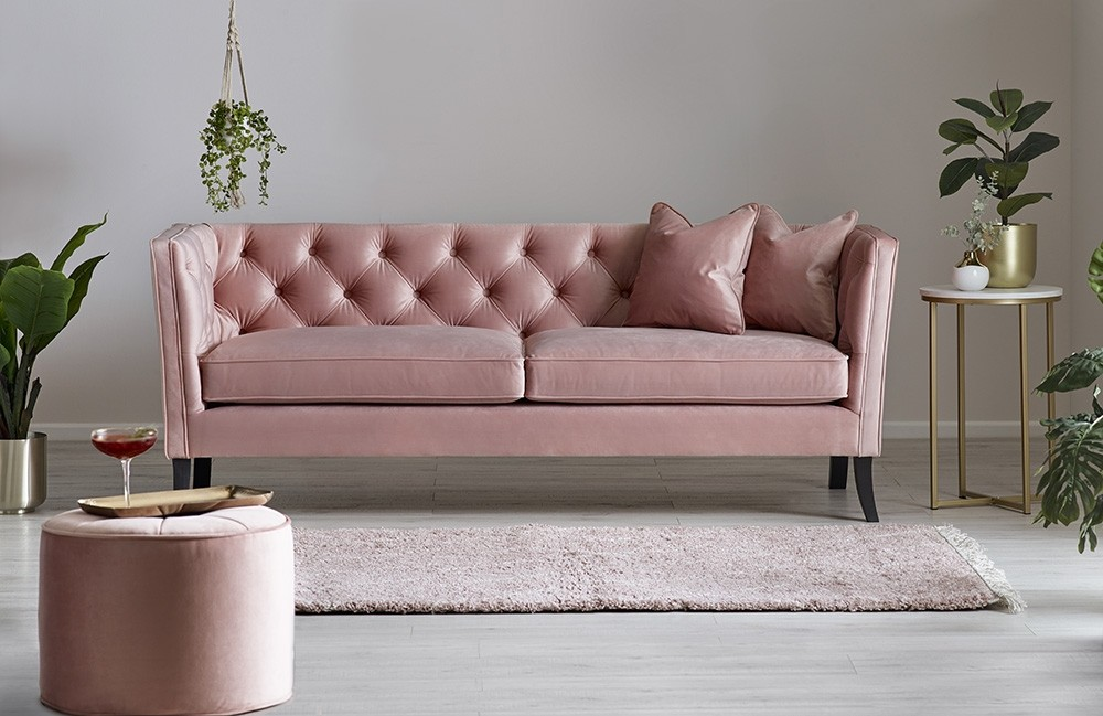 Harriet Sofa in Blush Pink