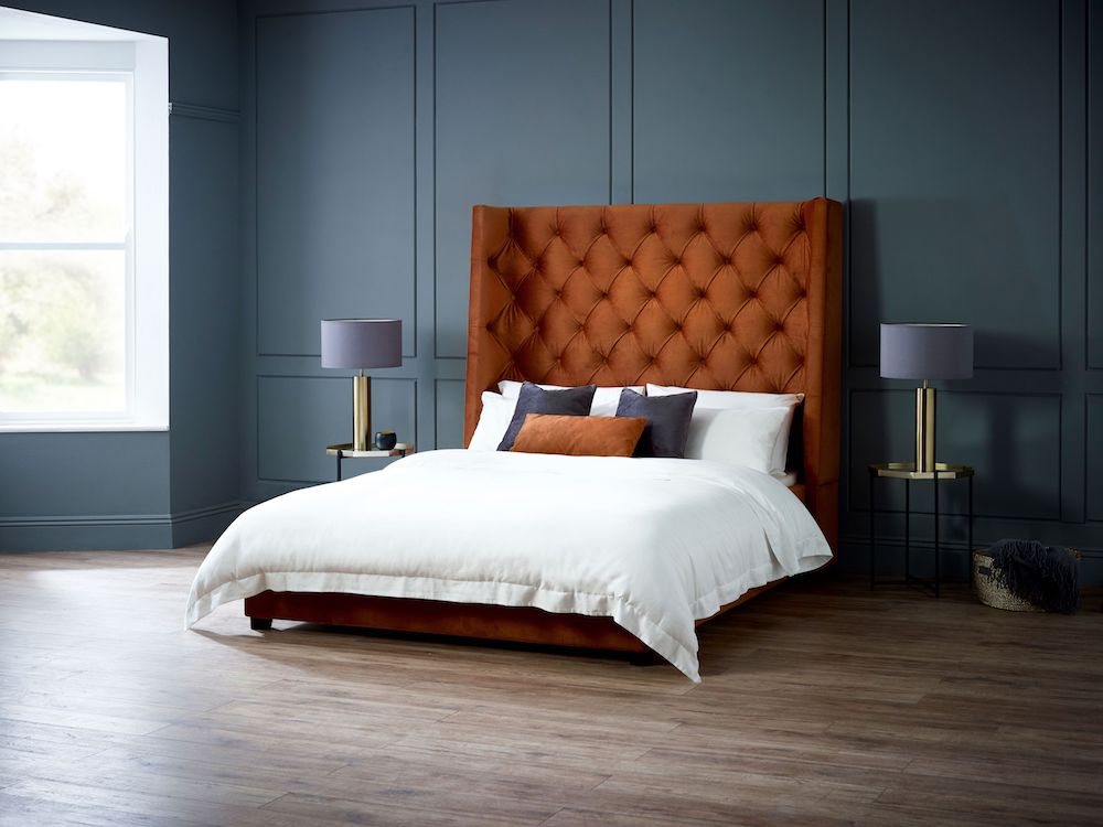 Arthur Bed in Burnt Orange