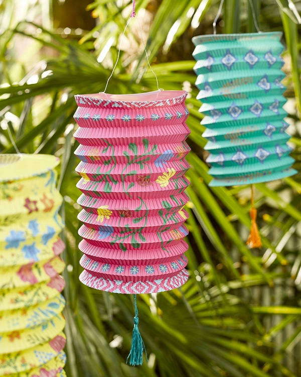 Boho Outdoor Entertaining Paper Lanterns