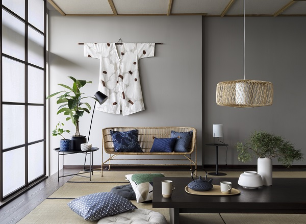 A kimono hung on the wall makes for an unusual and unique piece of artwork