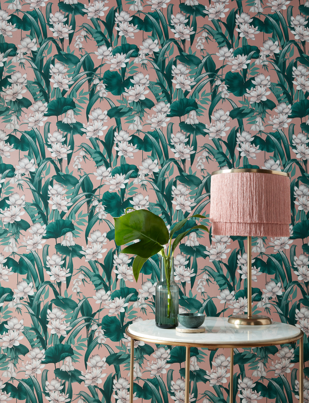 Accessorize Celeste Wallpaper - Blush Pink Glimmer