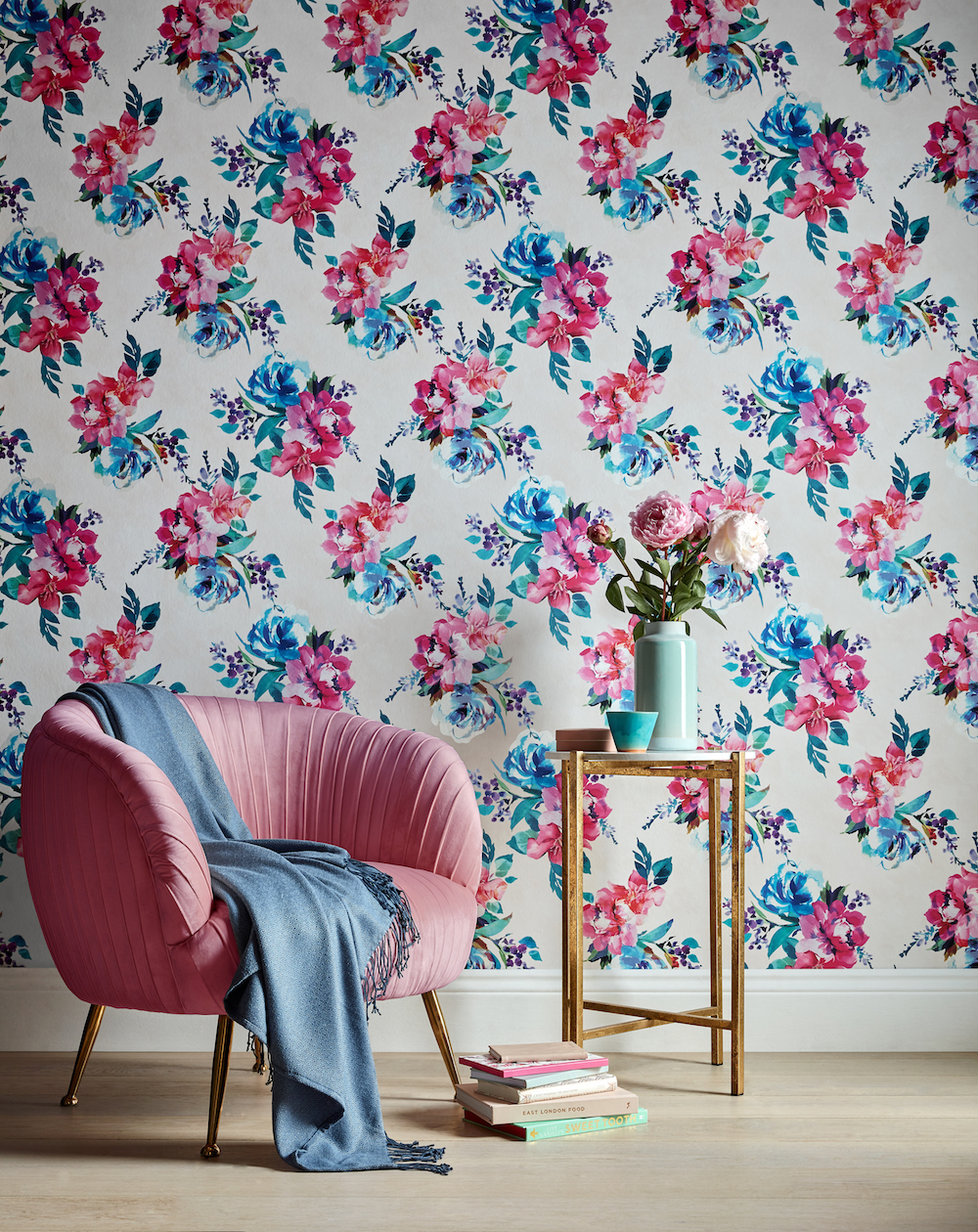 Accessorize Amelie Floral Wallpaper - Cream Multi