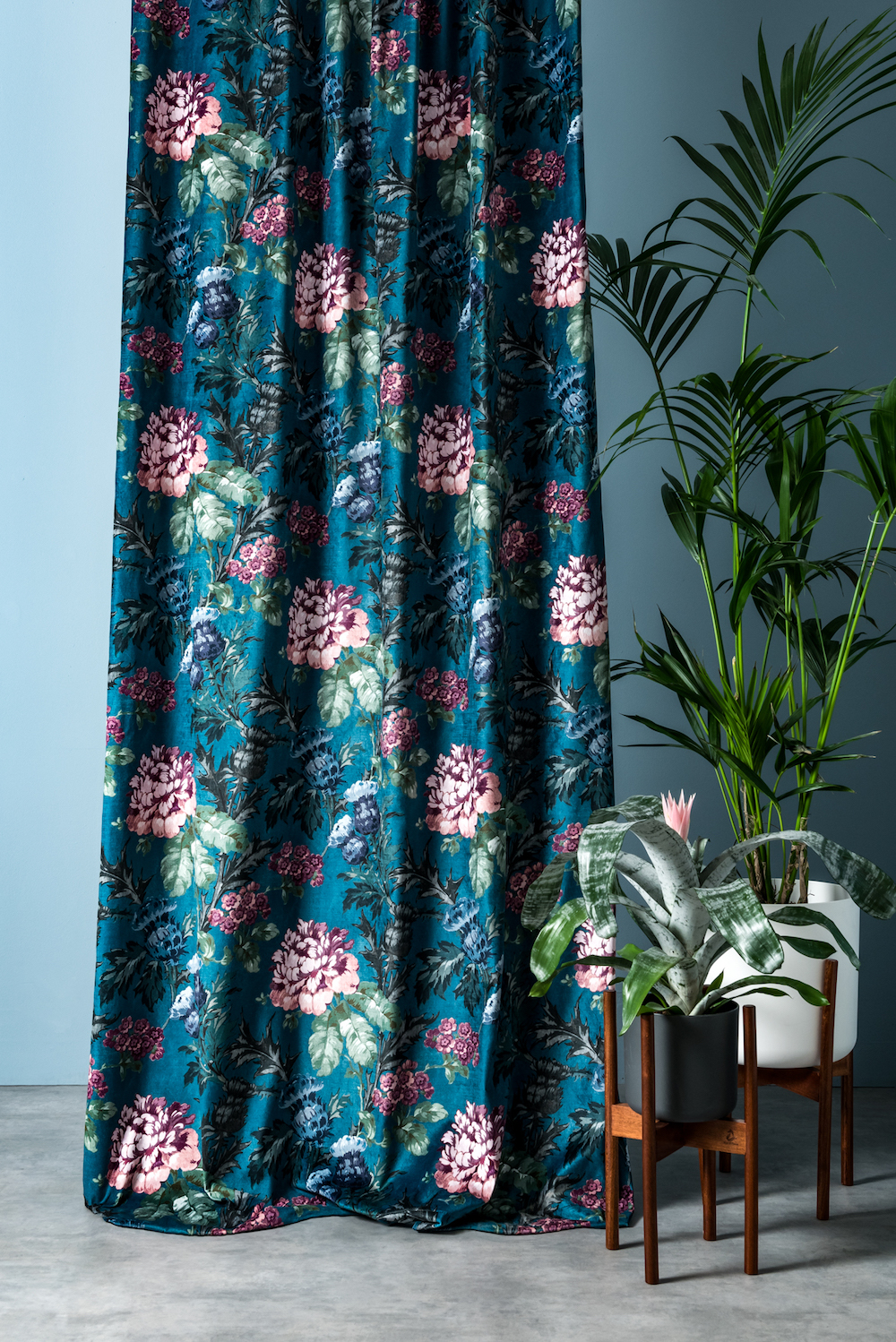 Arley House Tobermory fabric in Teal £68