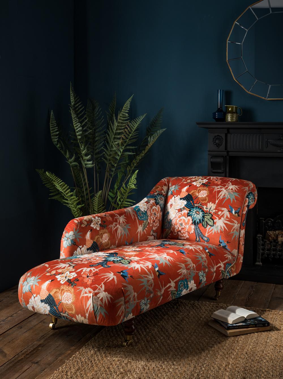 Arley House Maluku fabric in Burnt Orange £58