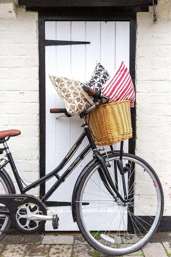 Tori Murphy - Little Cress Sage & Black & Scallop Stripe Raspberry 40cm Cushions - Portrait.jpg
