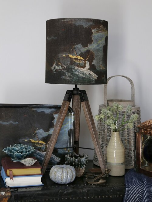 Shipwreck Night 30cm Lampshade On Table Tripod