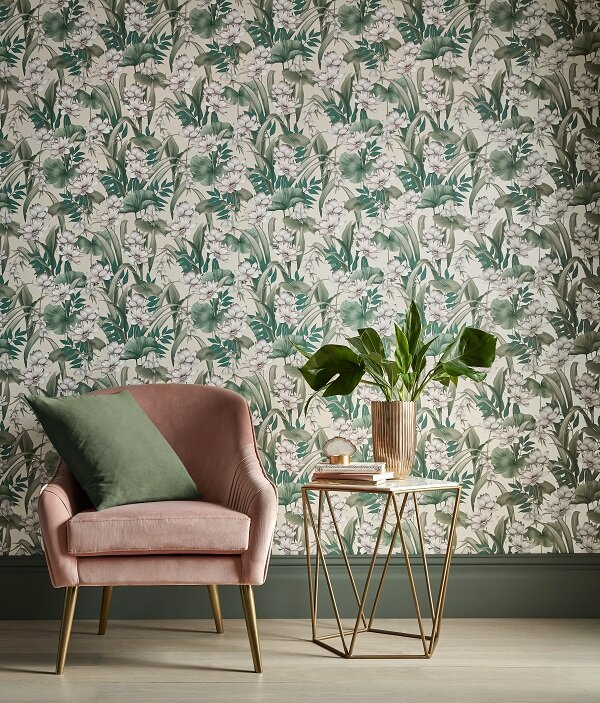 Celeste Wallpaper - Off White Glimmer