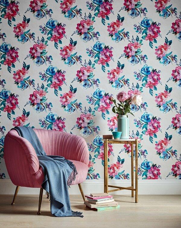 Amelie Floral Wallpaper - Cream Multi