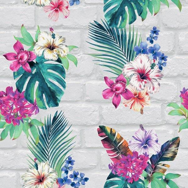Accessorize Camden Brick Floral Wallpaper - Light Grey Multi Cut Out.jpg