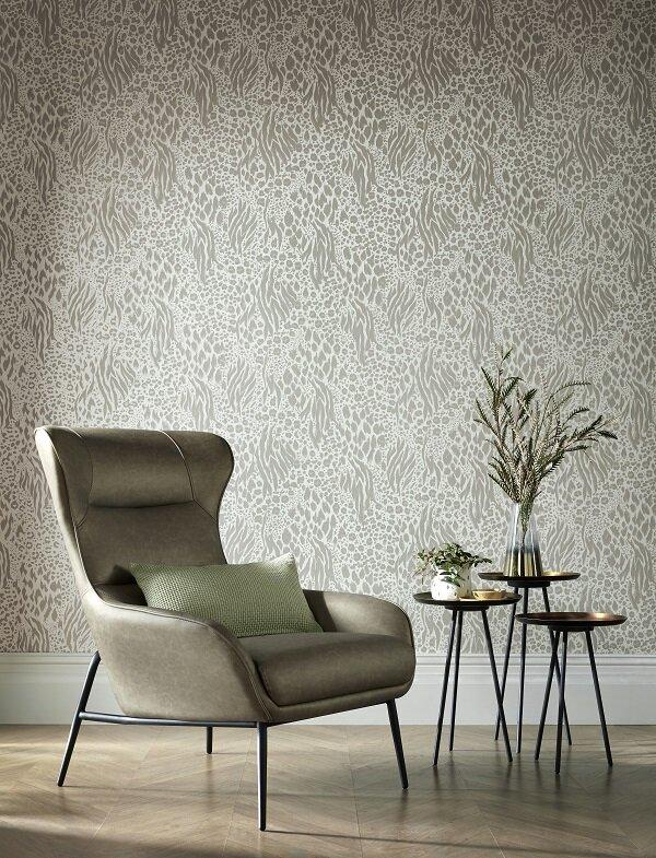 Savannah Wallpaper - Neutral Glimmer