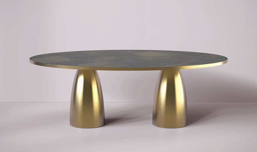 NEW |  LUSTRE OVAL DINING TABLE
