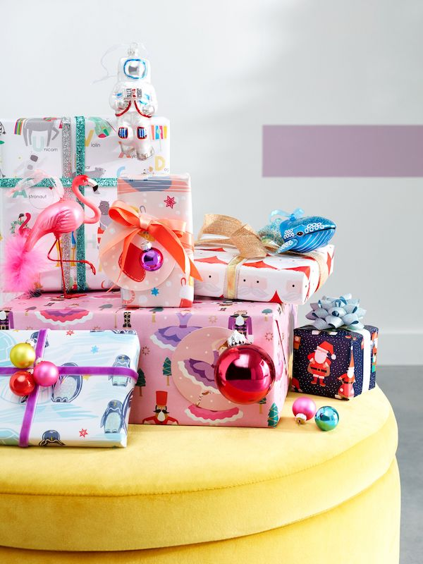 Flamingo £8, Glitter Whale £8, Gift Wrap From £4