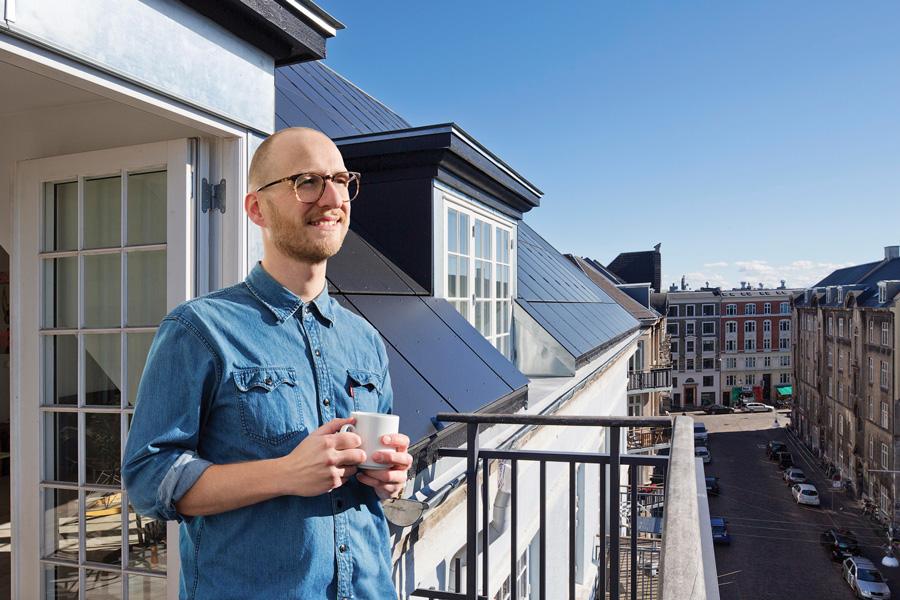 Solcelletag på Andreas Bjørns Gade