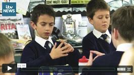 ITV News Report on paws .b at Ysgol Pen Y Bryn Primary School in North Wales.