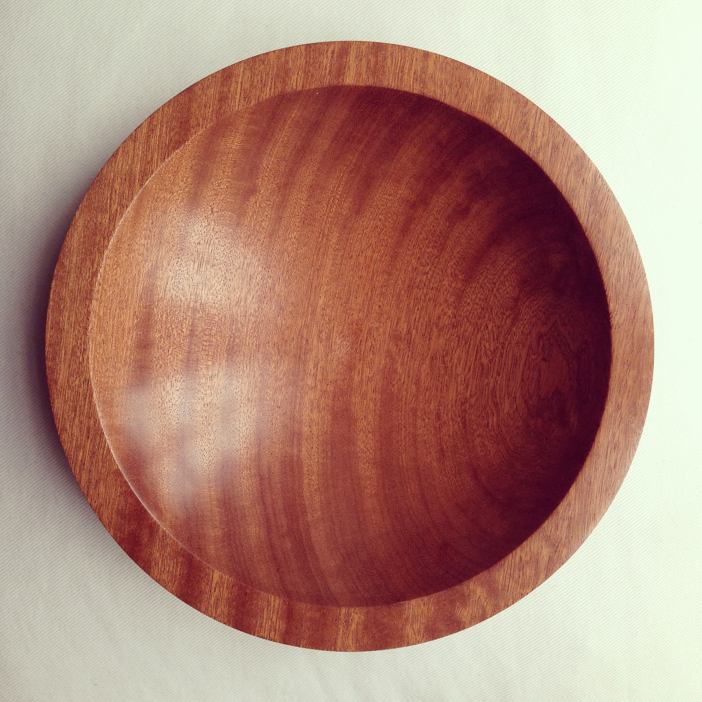 Bowl, Figured African Sapele