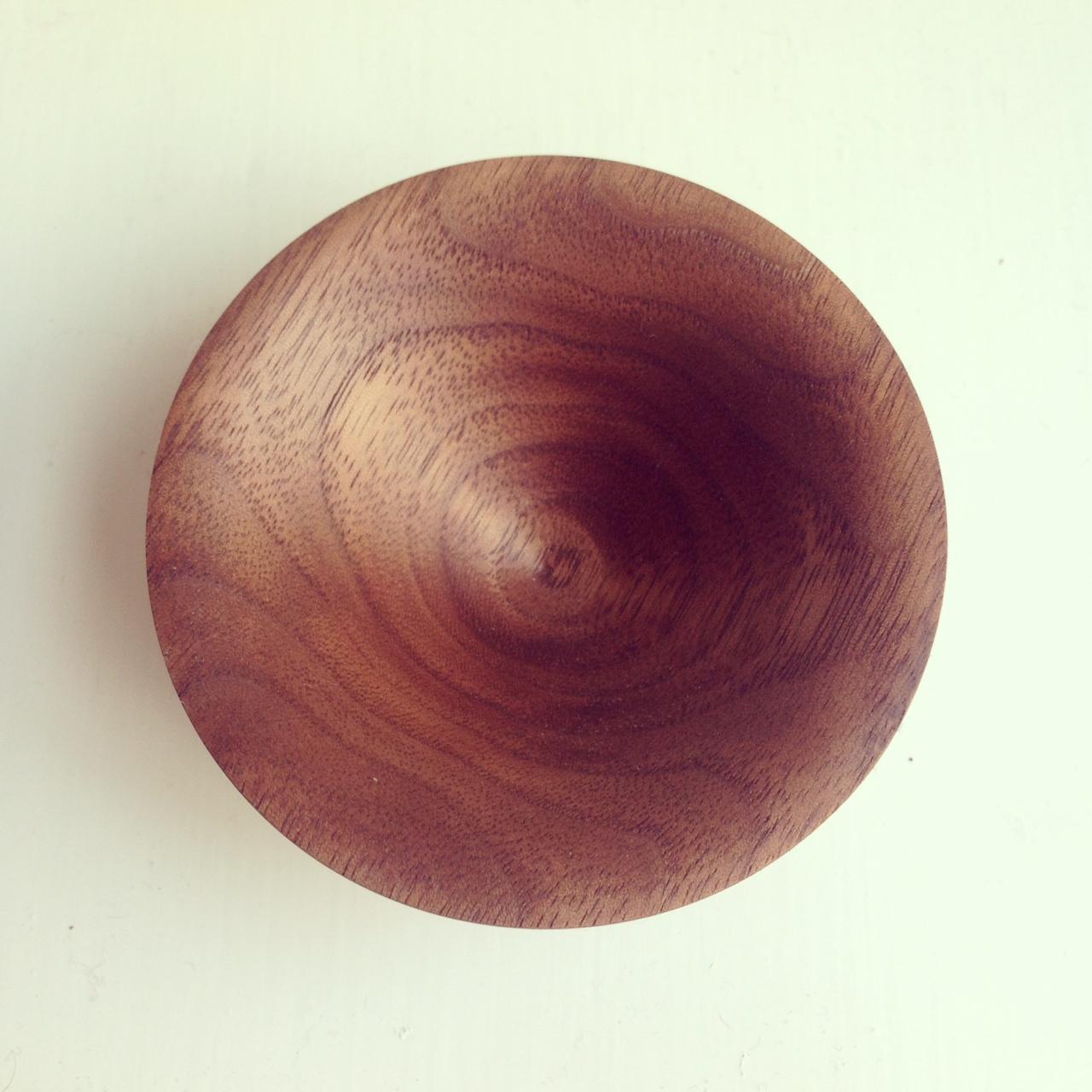 Ring dish, Black American Walnut