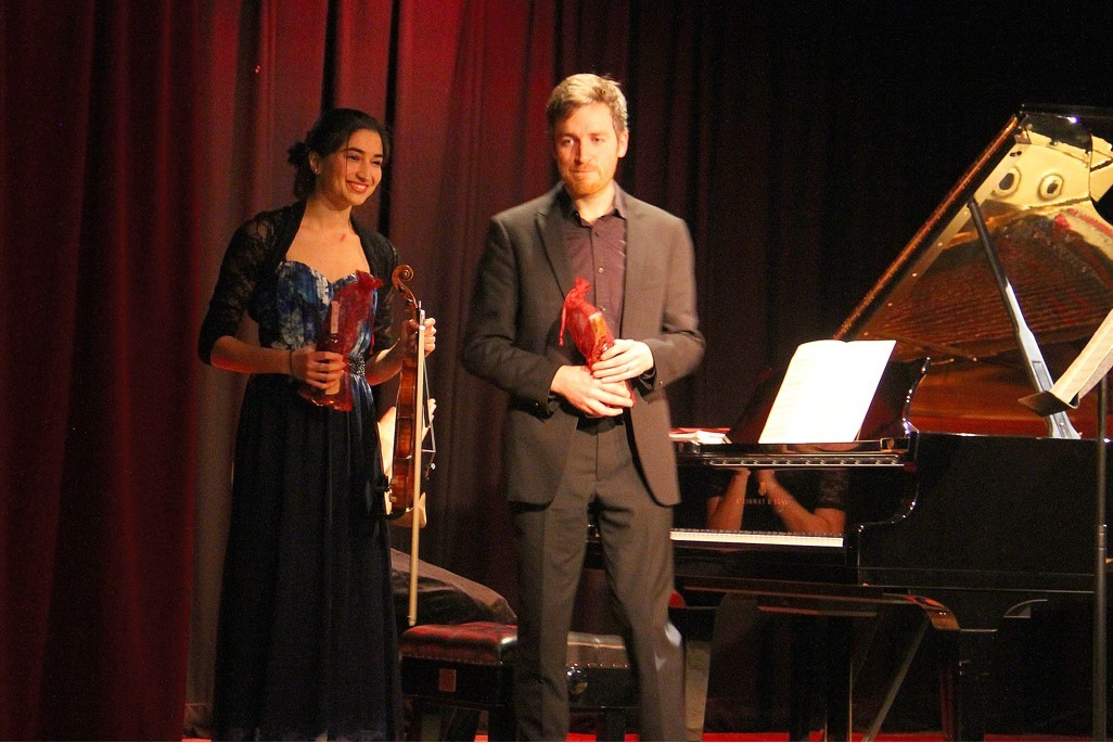 Savitri Grier and Richard Uttley at West Wight Arts Concert