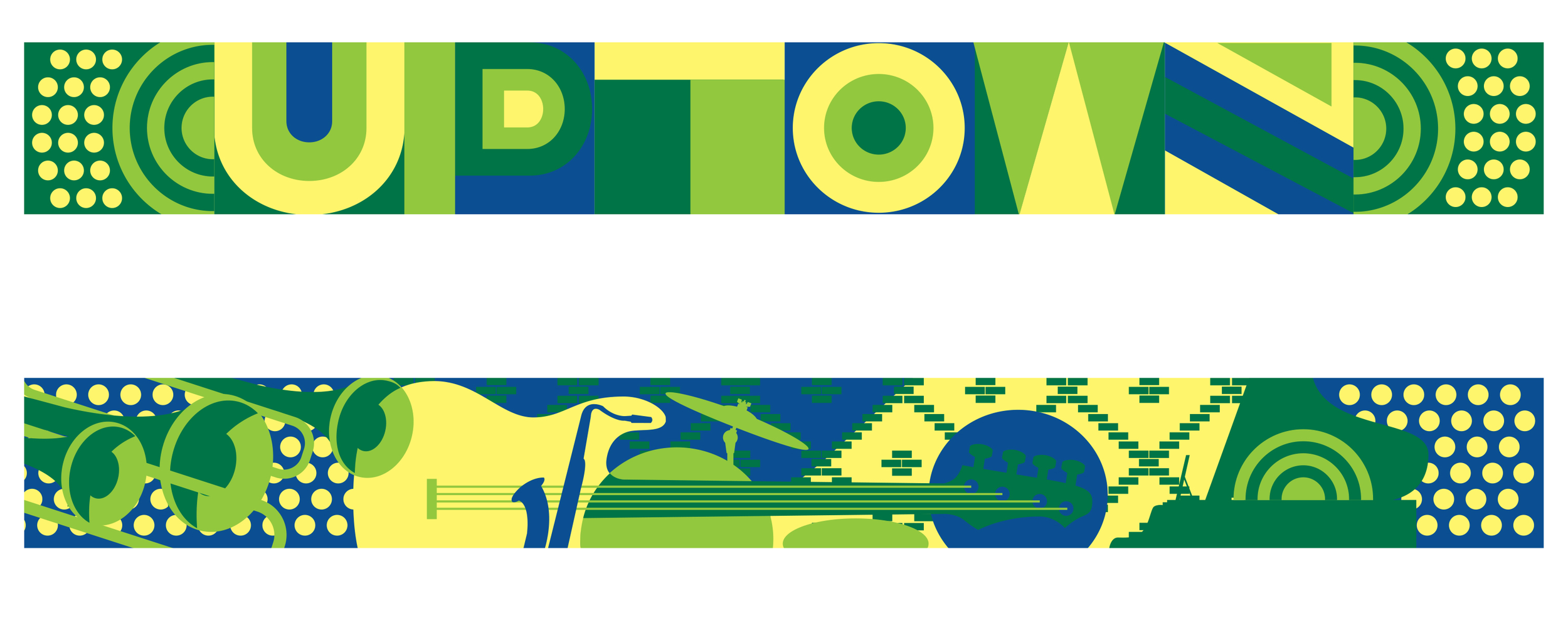 Proposed design for 2 murals for Uptown Chicago