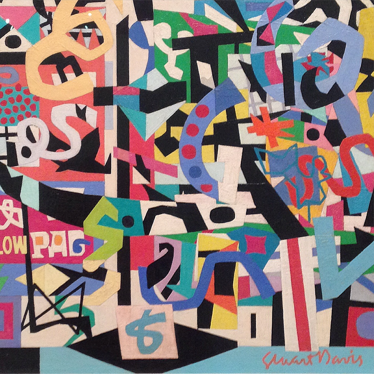 Stuart Davis retrospective at The Whitney Museum. Many pieces incorporated letterforms.