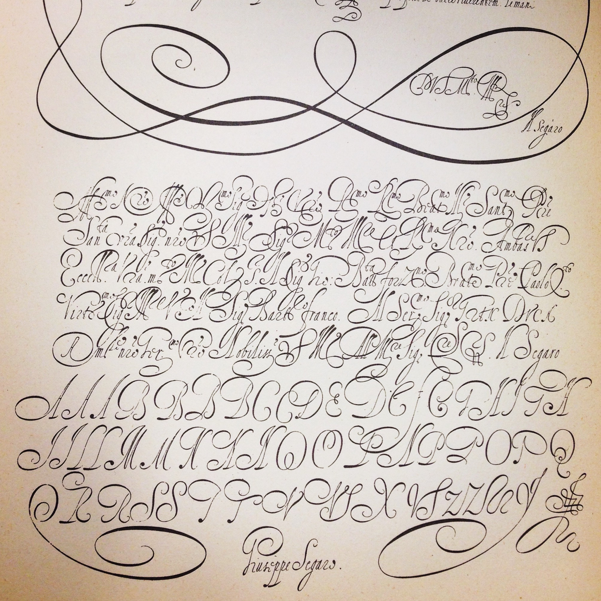 I was able to view many rare books and lettering works at The Herb Lubalin Study Center of Design and Typography. This is just one of the pages of one of my favored calligraphy books there.