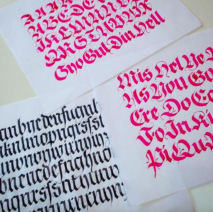 PRACTICE! Calligraphy