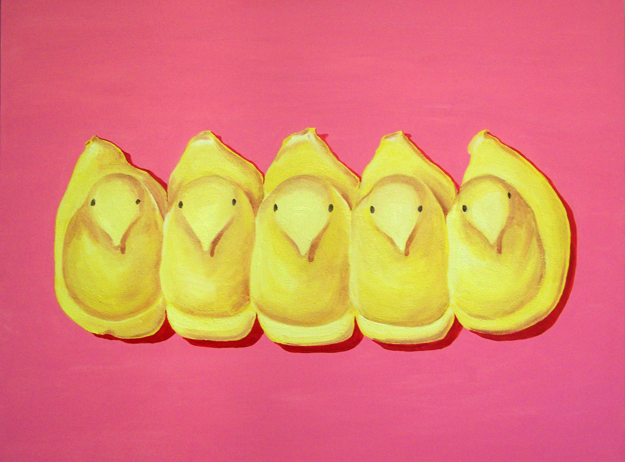 SOLD-40x30-All My Chicks in a Row