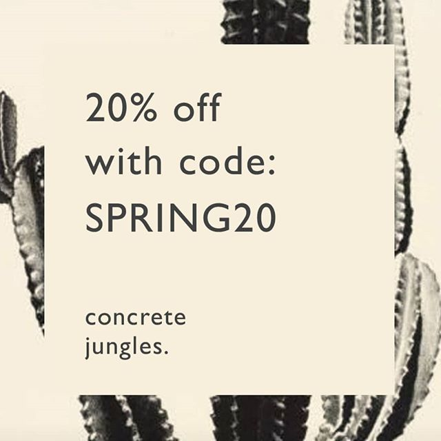 We're feeling all 🤩 about the end of botanical hibernation so here's 20% off anything you like in the concrete jungles store. Concretejungles.co.uk/shop 🌵  #concrete #cactus #cacti #succulents #concretejungles #planter #handmade #plantbabies
