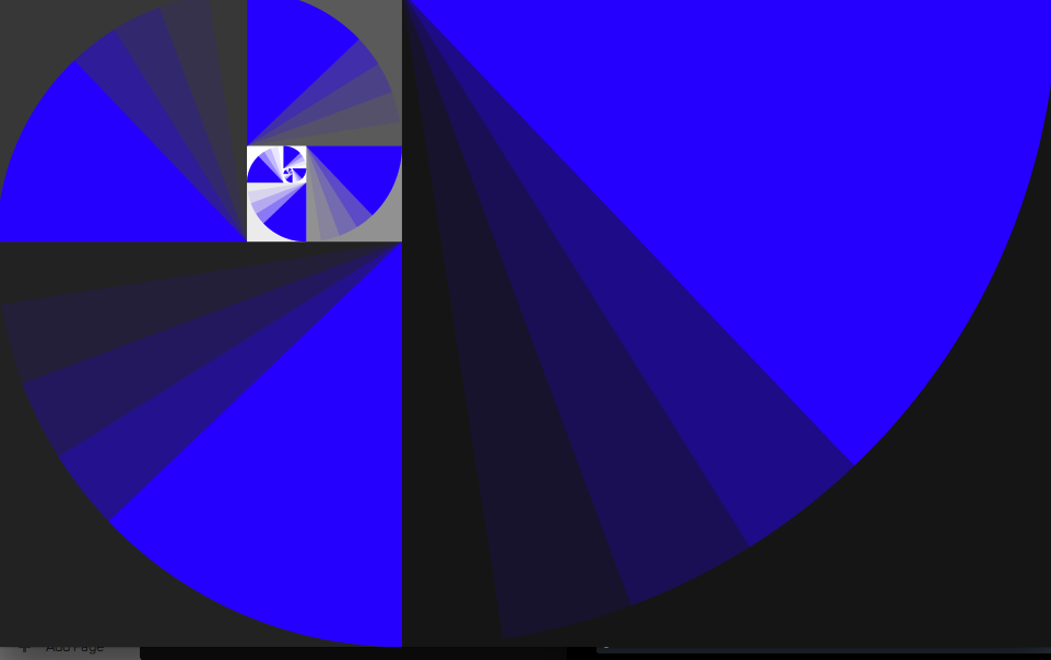 When the hue is in the blue range, the white is emphasized...