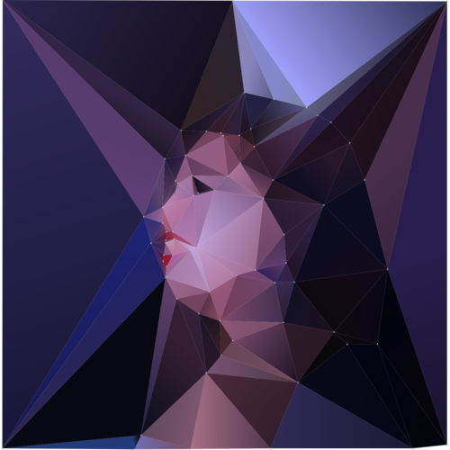 Low Poly Image Generated