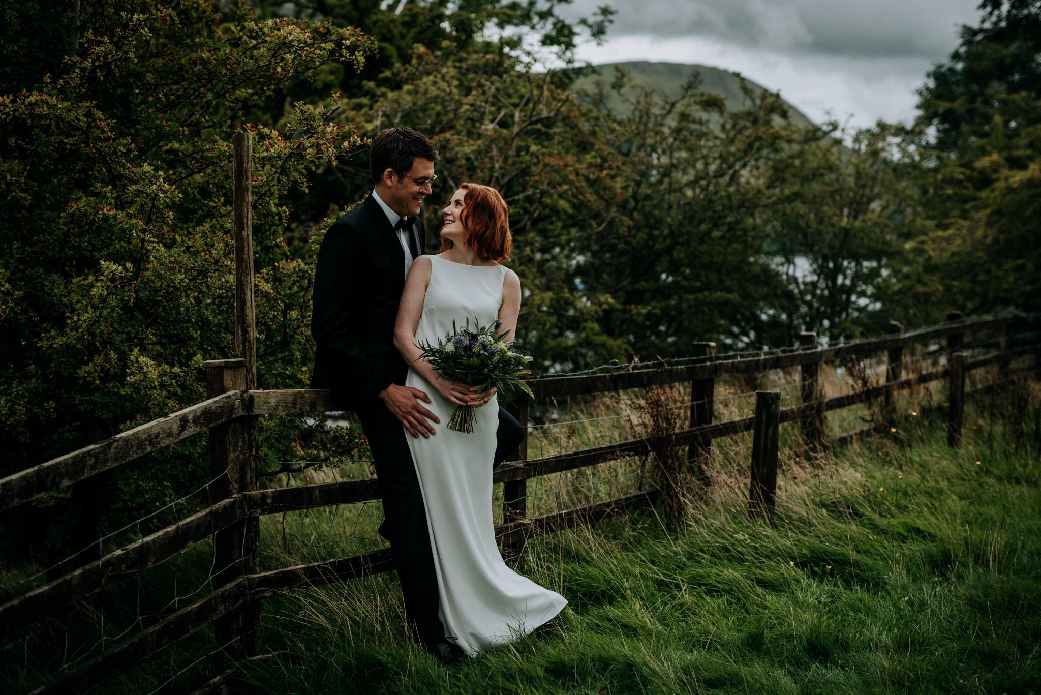 Edinburgh weding photographer Lake District wedding