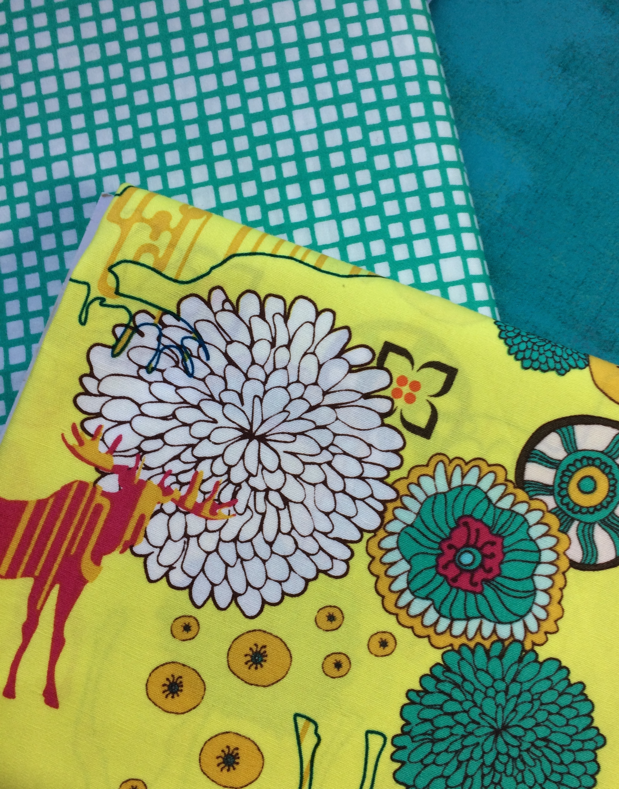 Moose and flowers, how fun! This Art Gallery Fabric is fabulous!