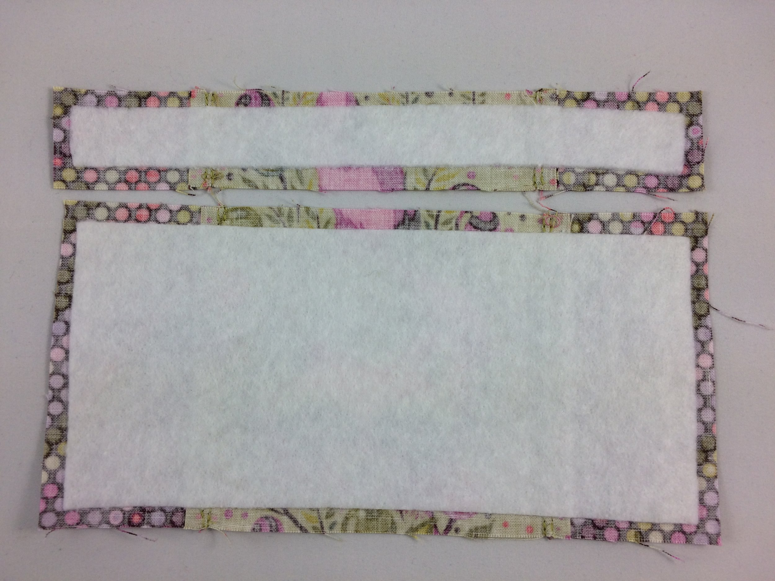 Interfacing added and ready to continue with the pattern instructions!