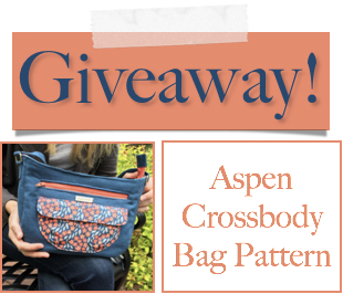 Make sure to comment on the posts that look like this if you want to be entered in the giveaway to win an Aspen Crossbody Bag pattern!
