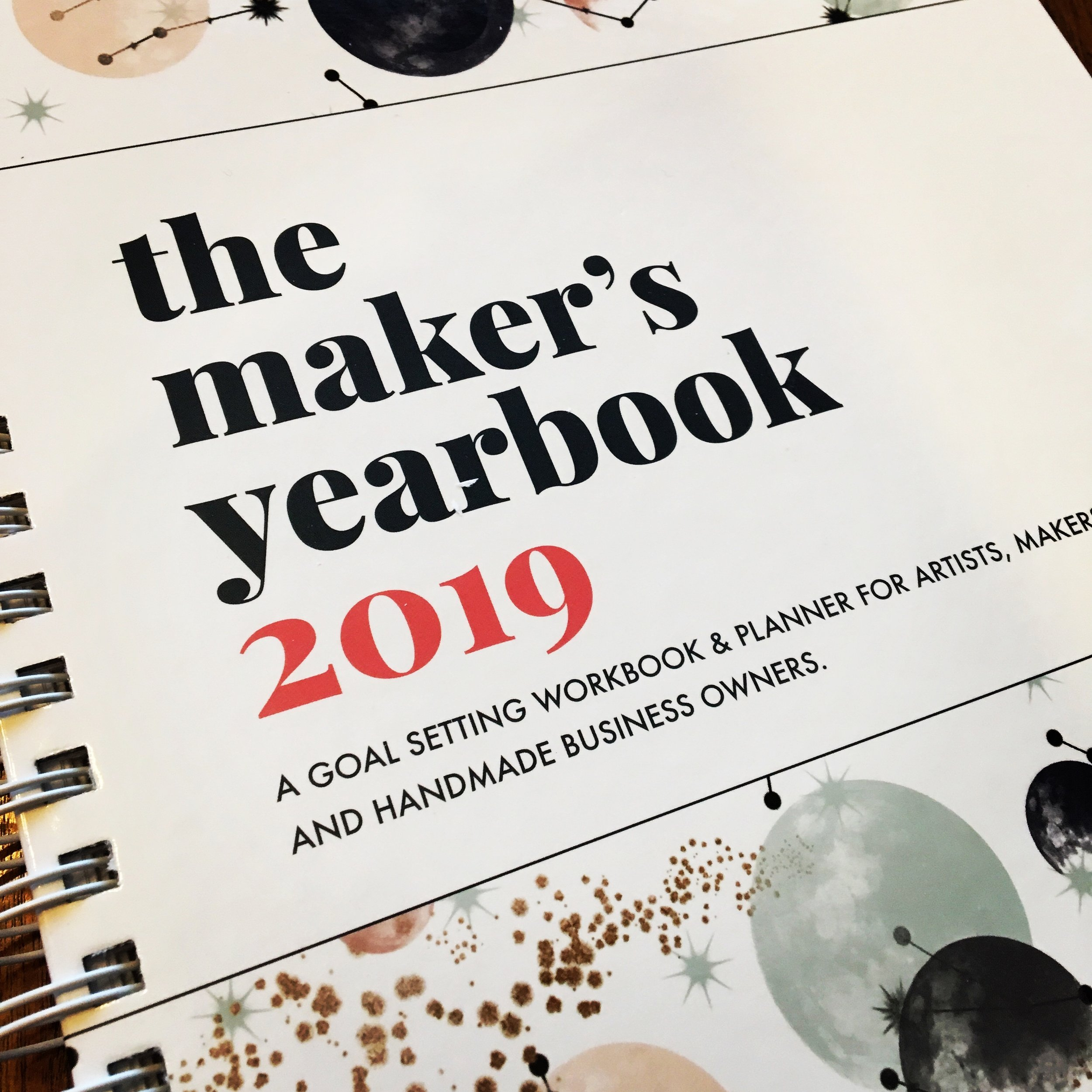 I'm loving planning using  The Maker's Yearbook 2019 ! It's a great planner for anyone with a handmade business.