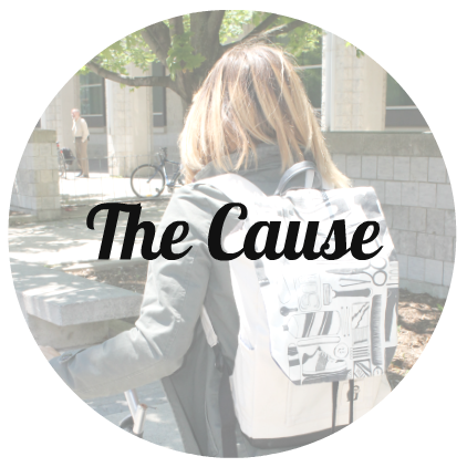 the cause - donating backpacks to those experiencing homelessness - Givway & Co.