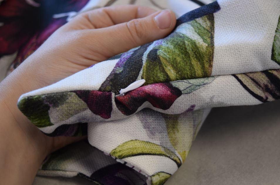 Cotton linen canvas hidden zipper