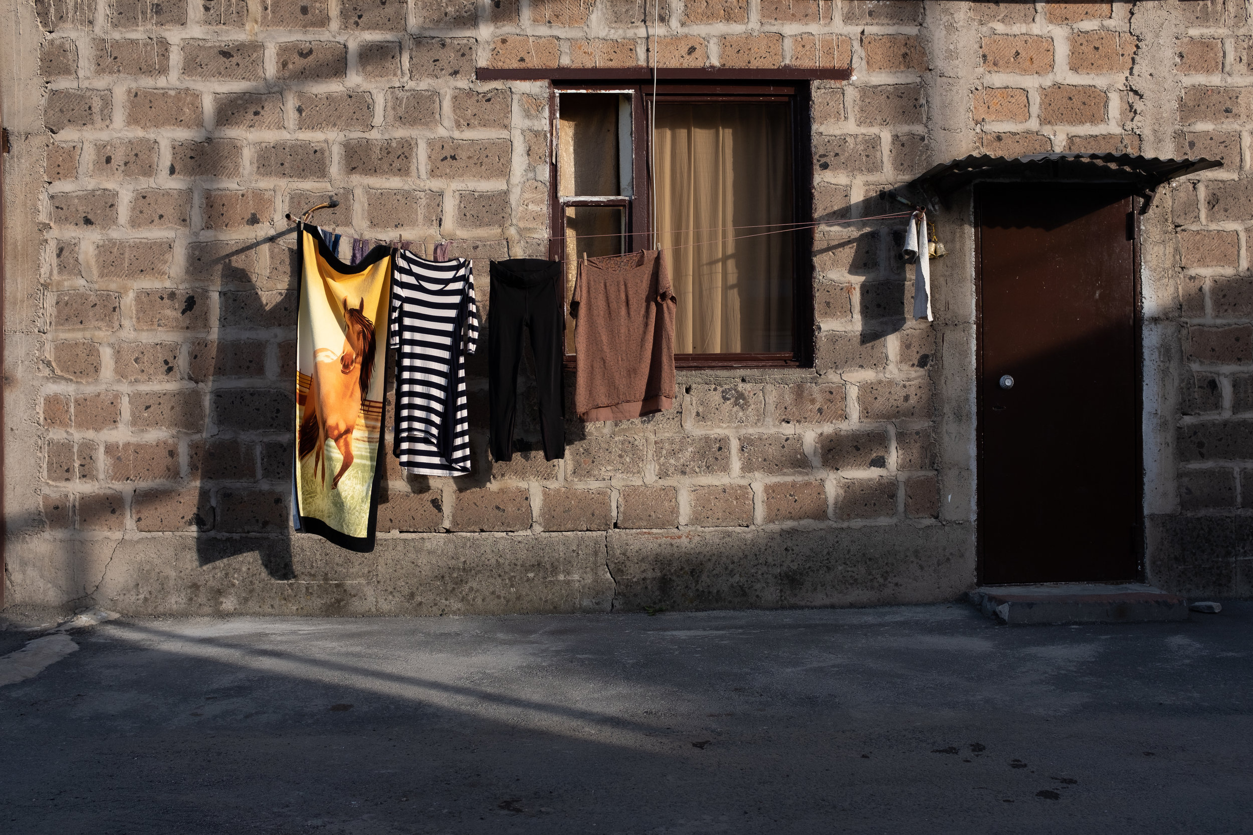 One of the most common sights throughout Armenia, linens hanging to dry during a cool spring evening.