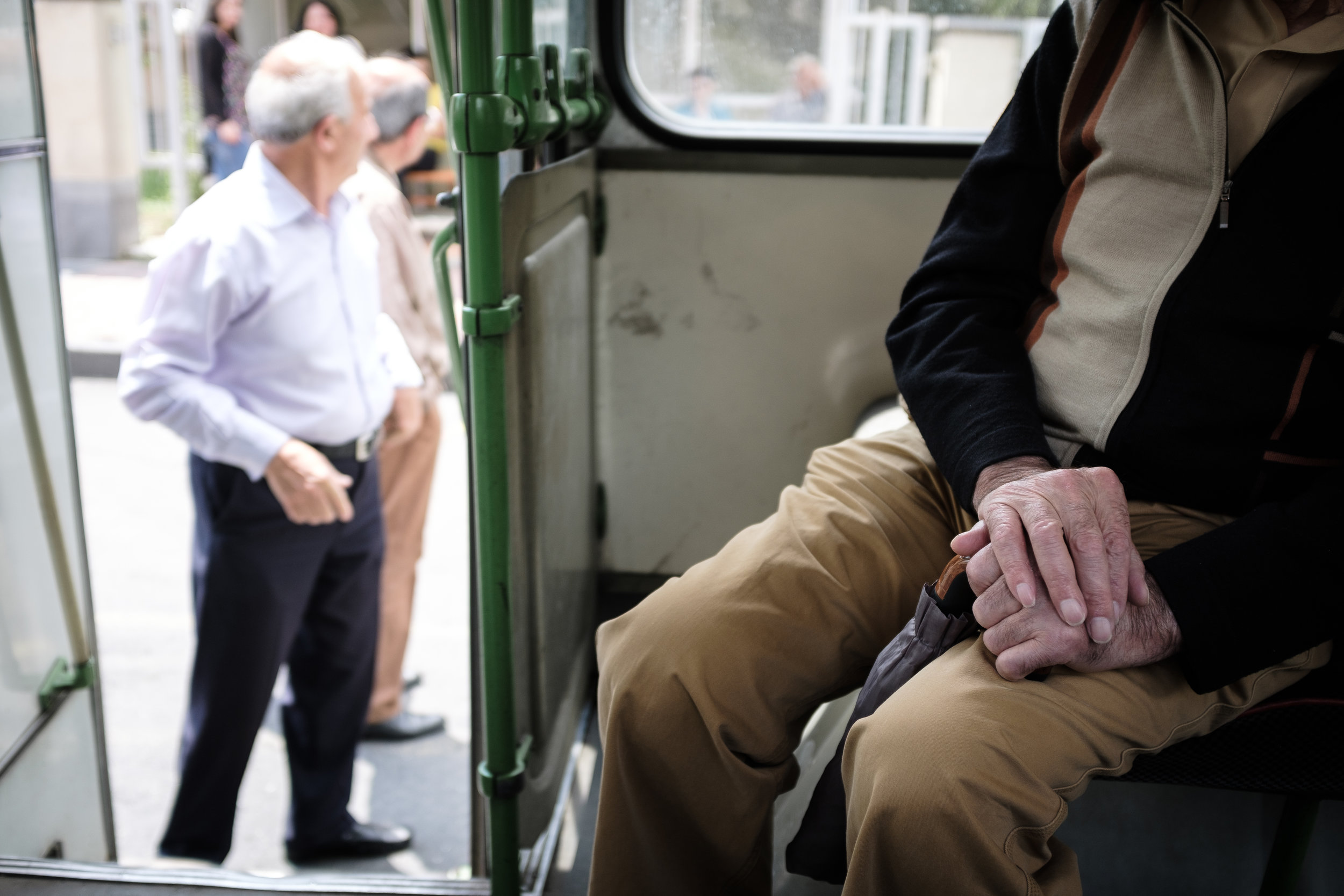 A common problem with the old trolleybuses is becoming disconnected from the power lines above. This often leads to a significantly long wait lasting at least 20 minutes or more in most cases. However the elderly people use this time as a way to conversate with fellow passengers.