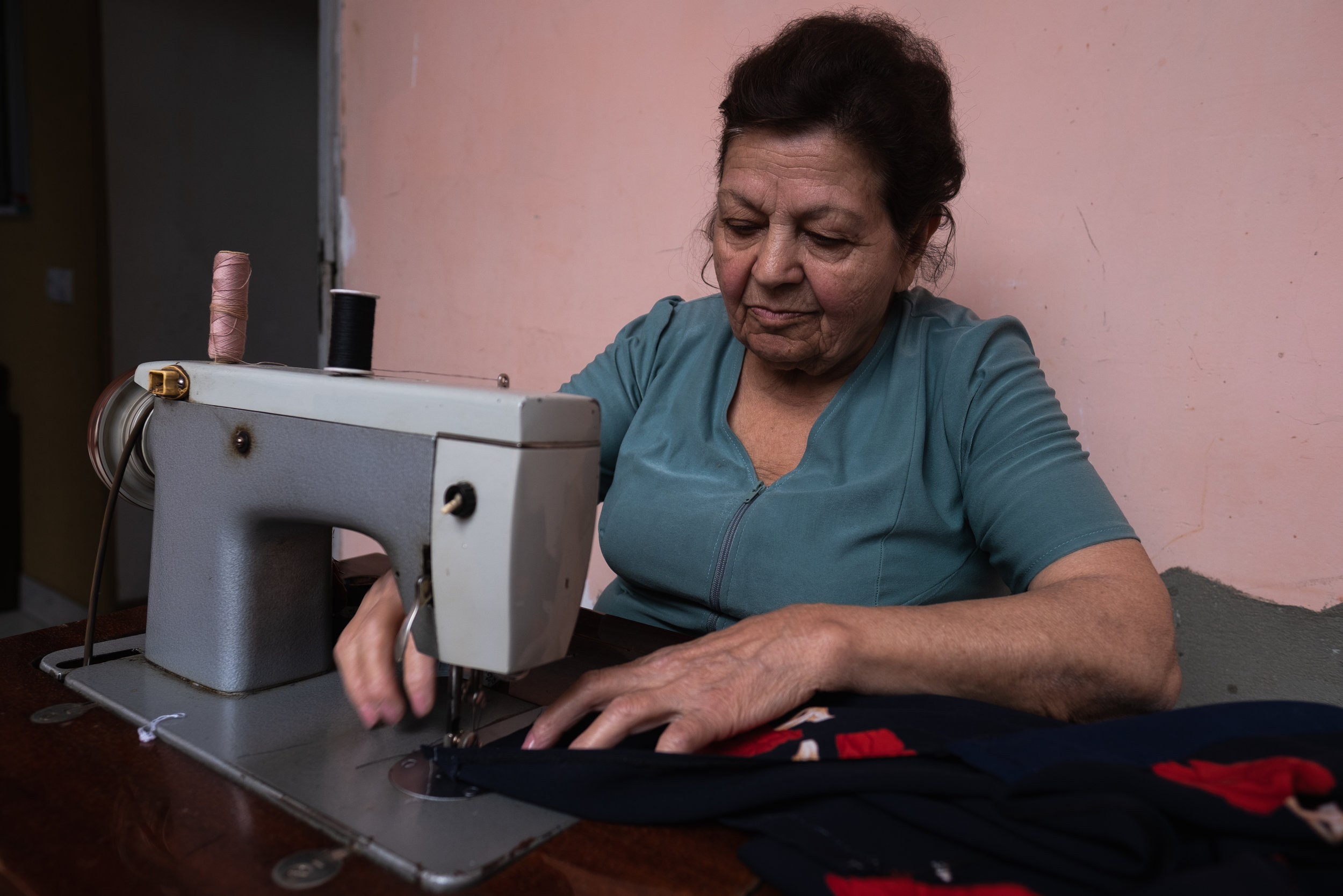 Sona has a passion for sewing and it still shows to this day. She is 80 years old, has 7 grandchildren and currently lives alone. Sona explained how she spent 4 years of her life as a seamstress in Uzbekistan where she used to make dresses for the women and pants for men, however her husband only wanted her to make dresses for the woman she said while beginning to laugh. She has a good heart, kind soul and loves to talk people.