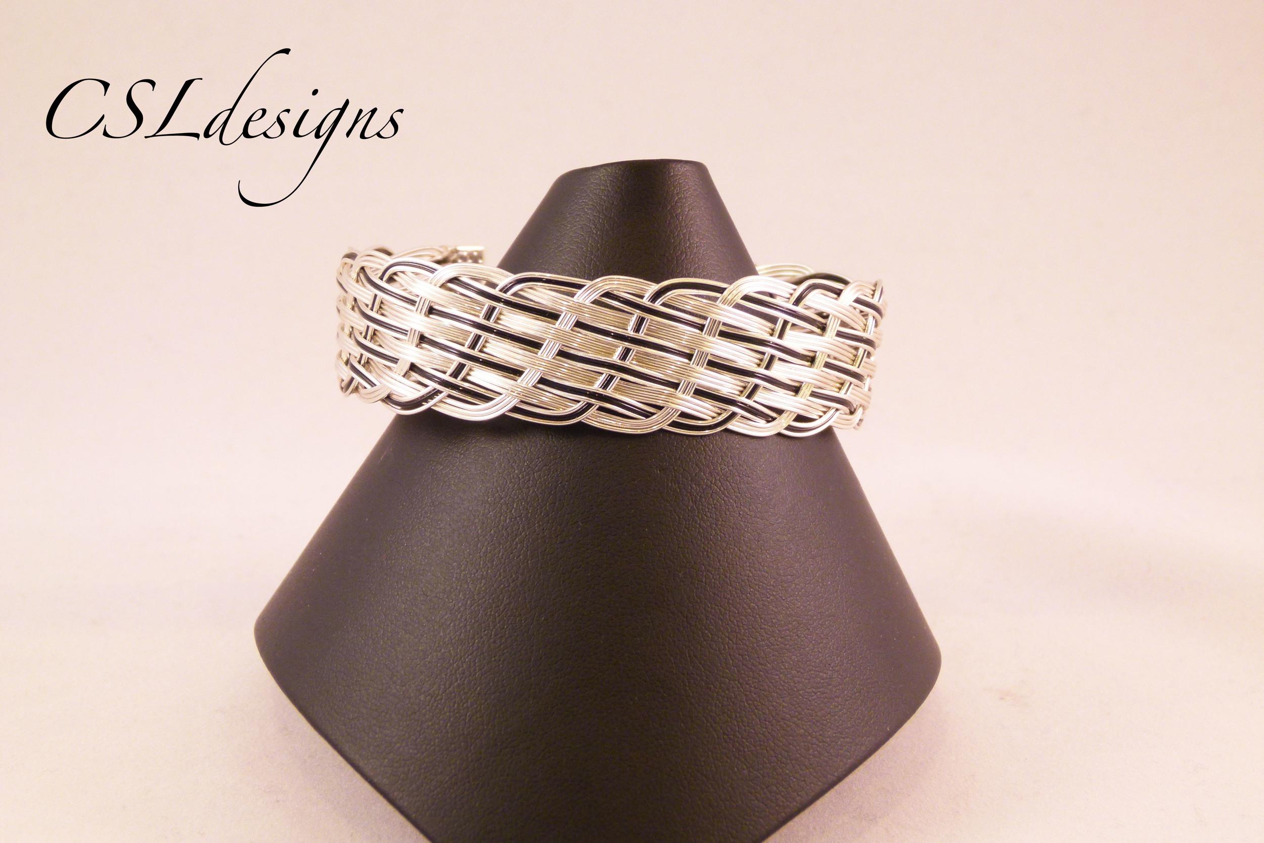 Close wirewoven black bracelet front full.jpg