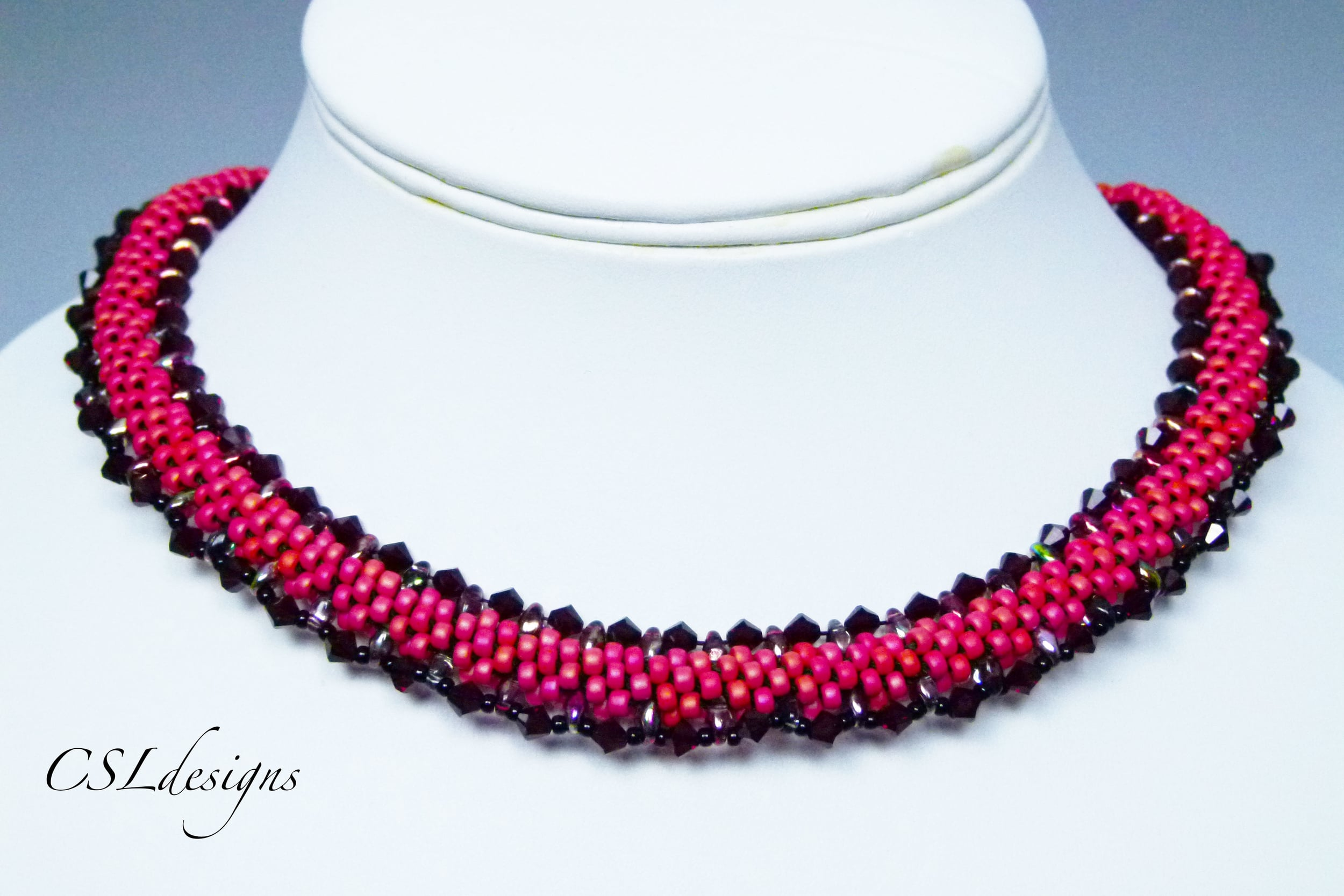 Beaded kumihimo SuperDuo necklace thumbnail.jpg