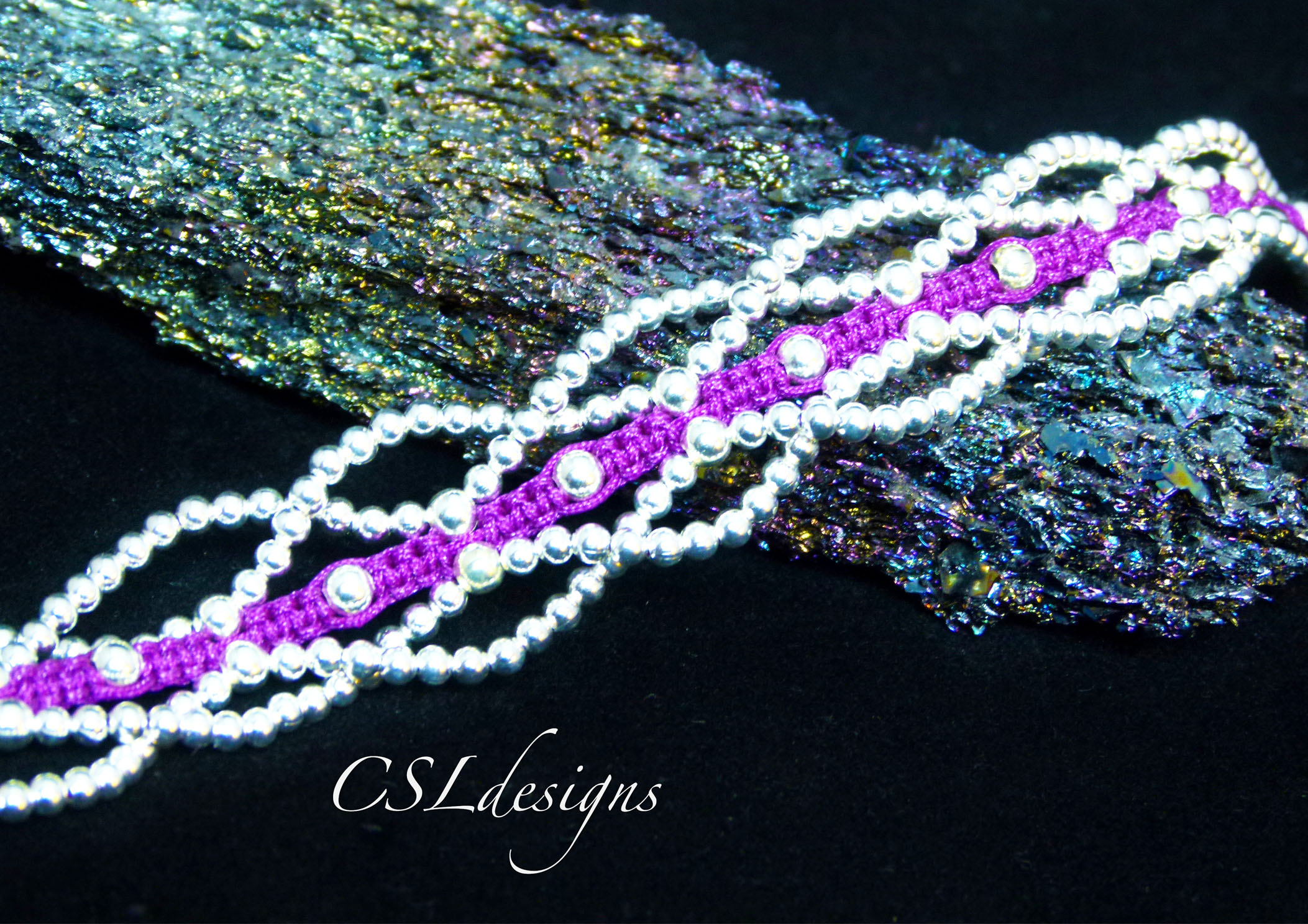 Laced beaded macrame bracelet thumbnail 2.jpg