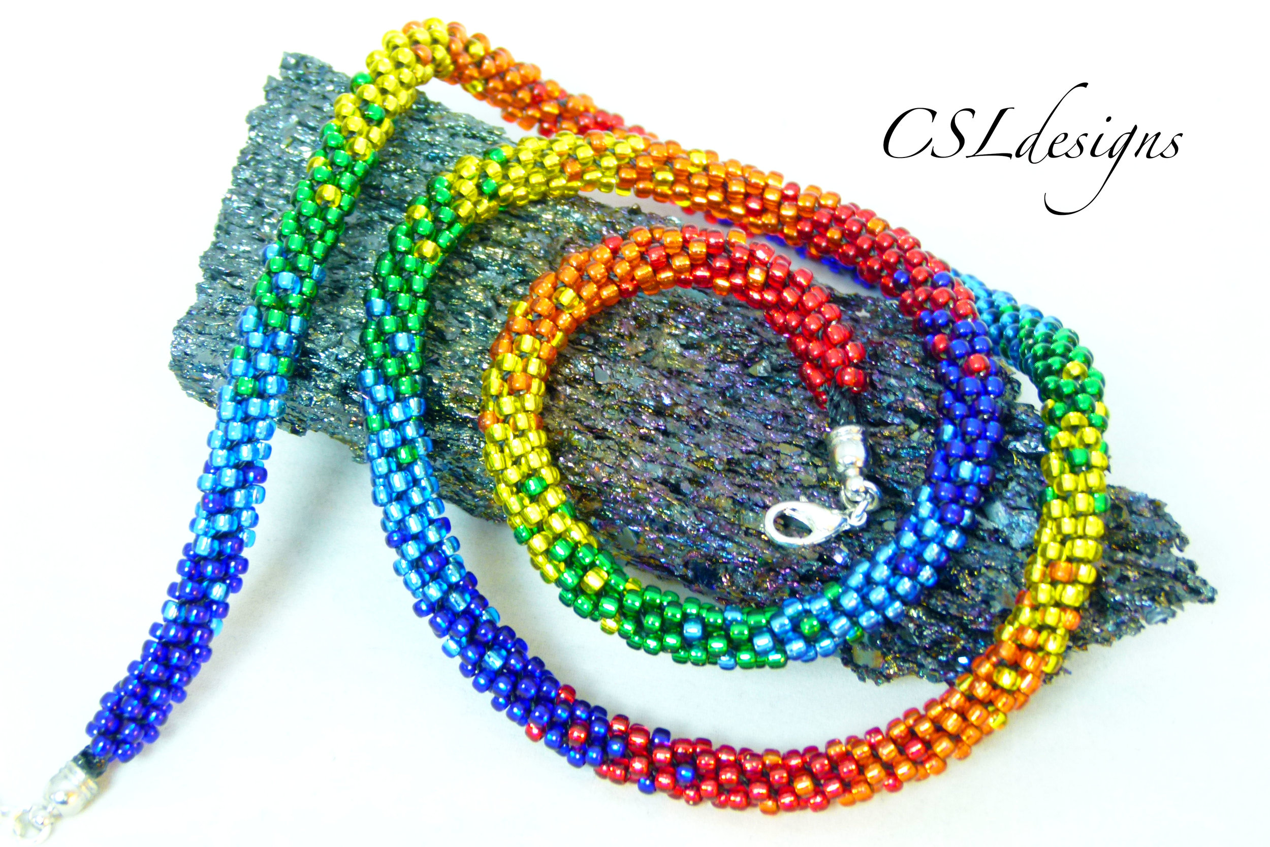 Multiple rainbows beaded kumihimo necklace thumbnail.jpg
