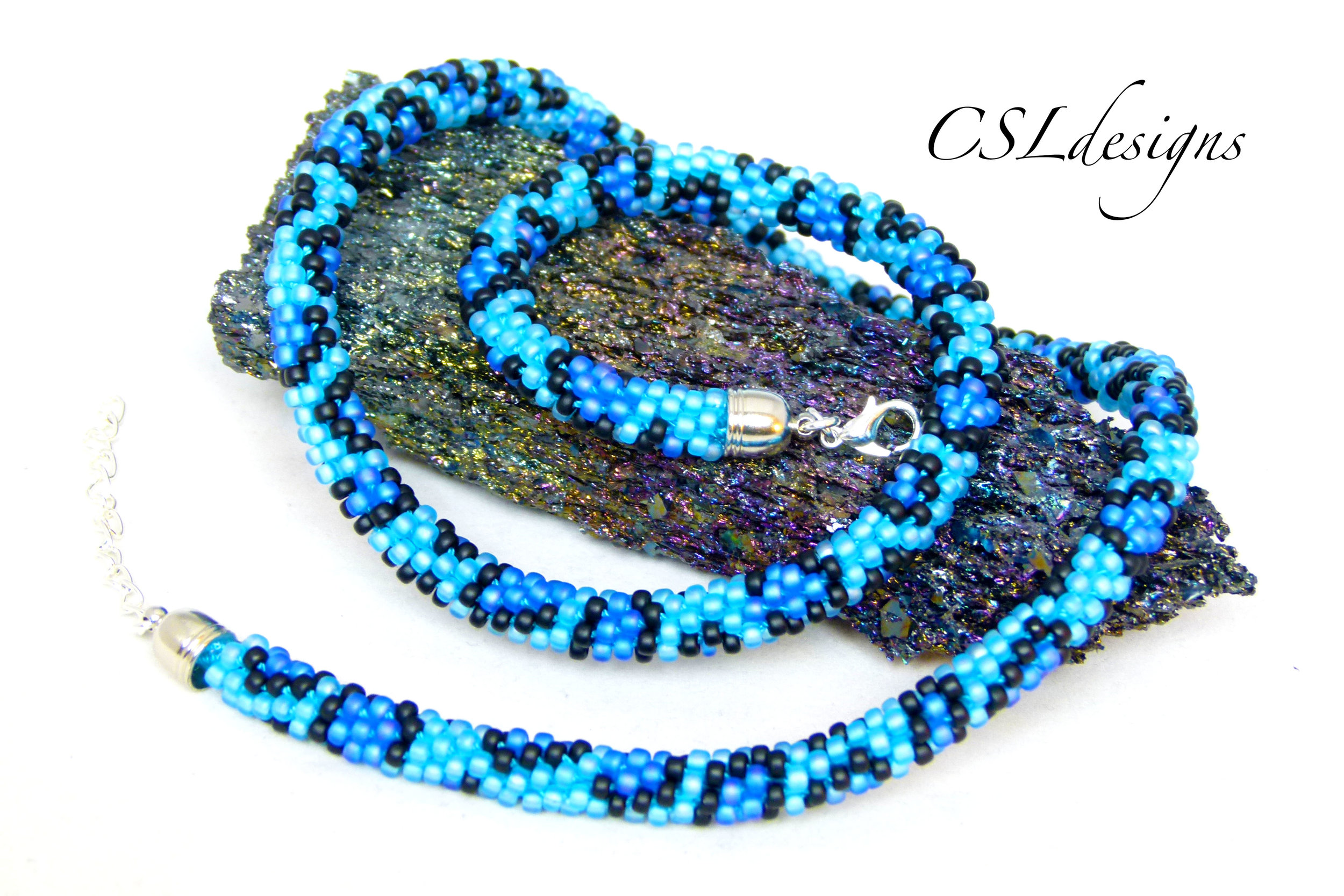 Leopard print beaded kumihimo necklace thumbnail.jpg