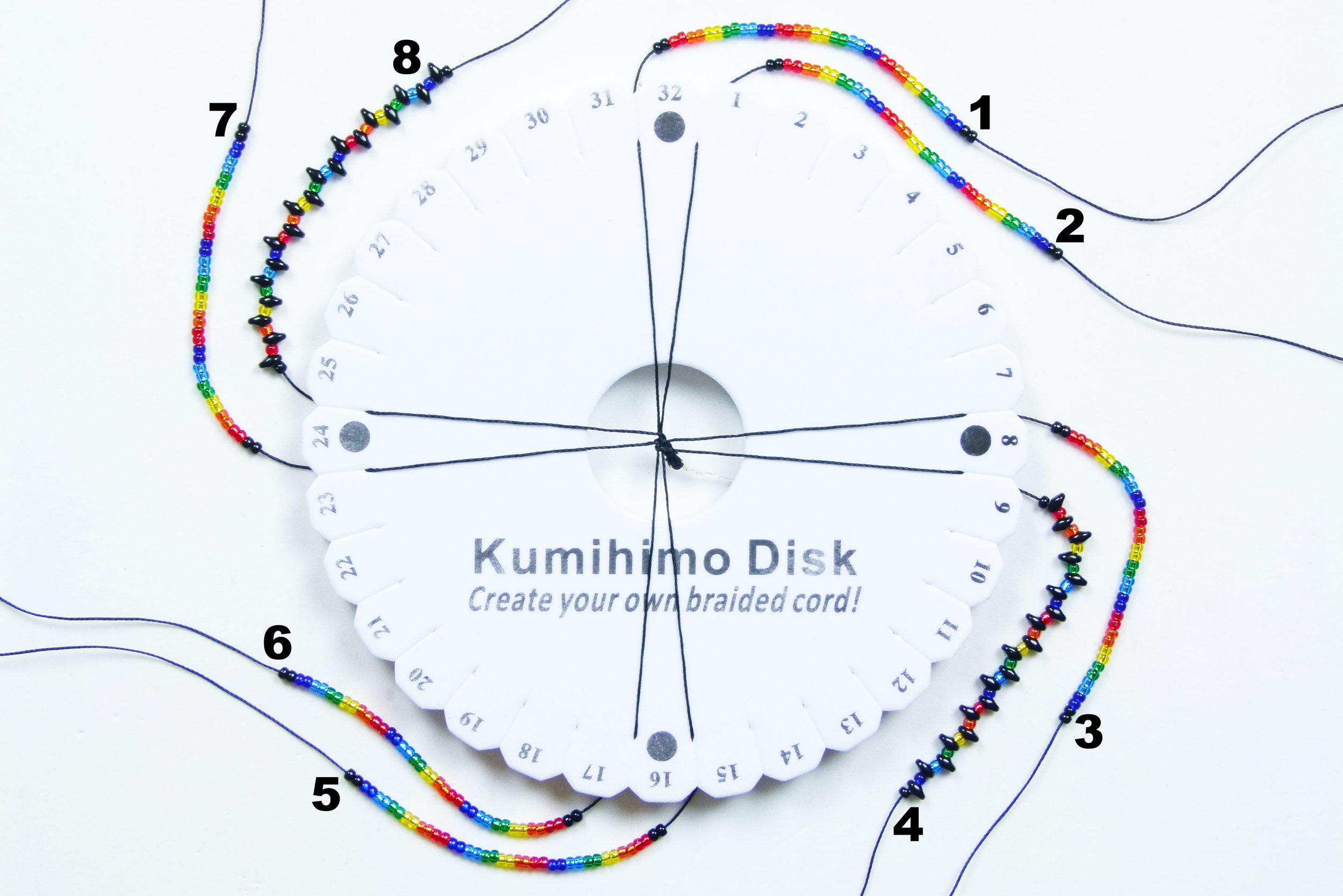 Beaded Kumihimo Tutorials Csldesigns