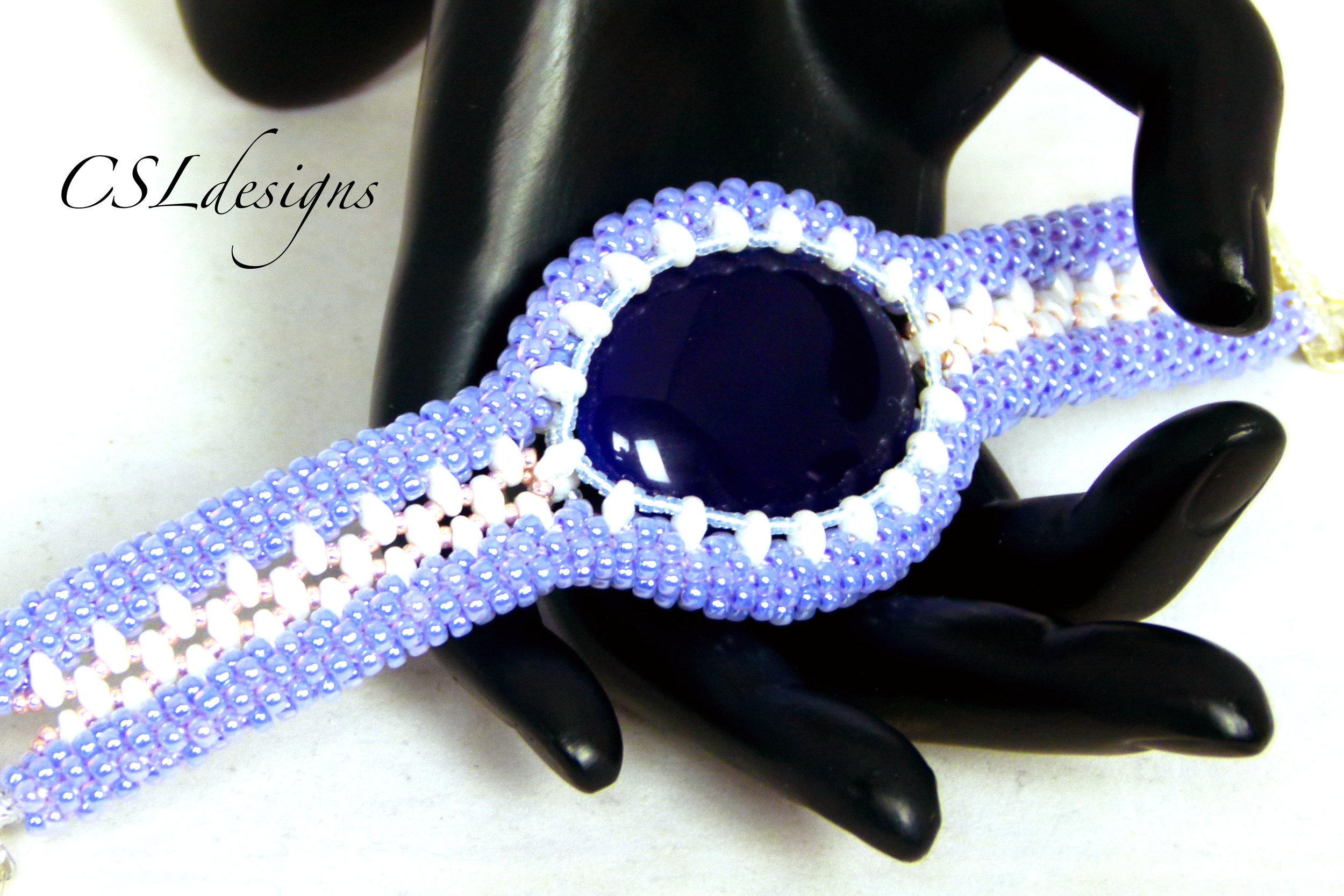 Captured cabochon beaded kumihimo bracelet thumbnail 3.jpg