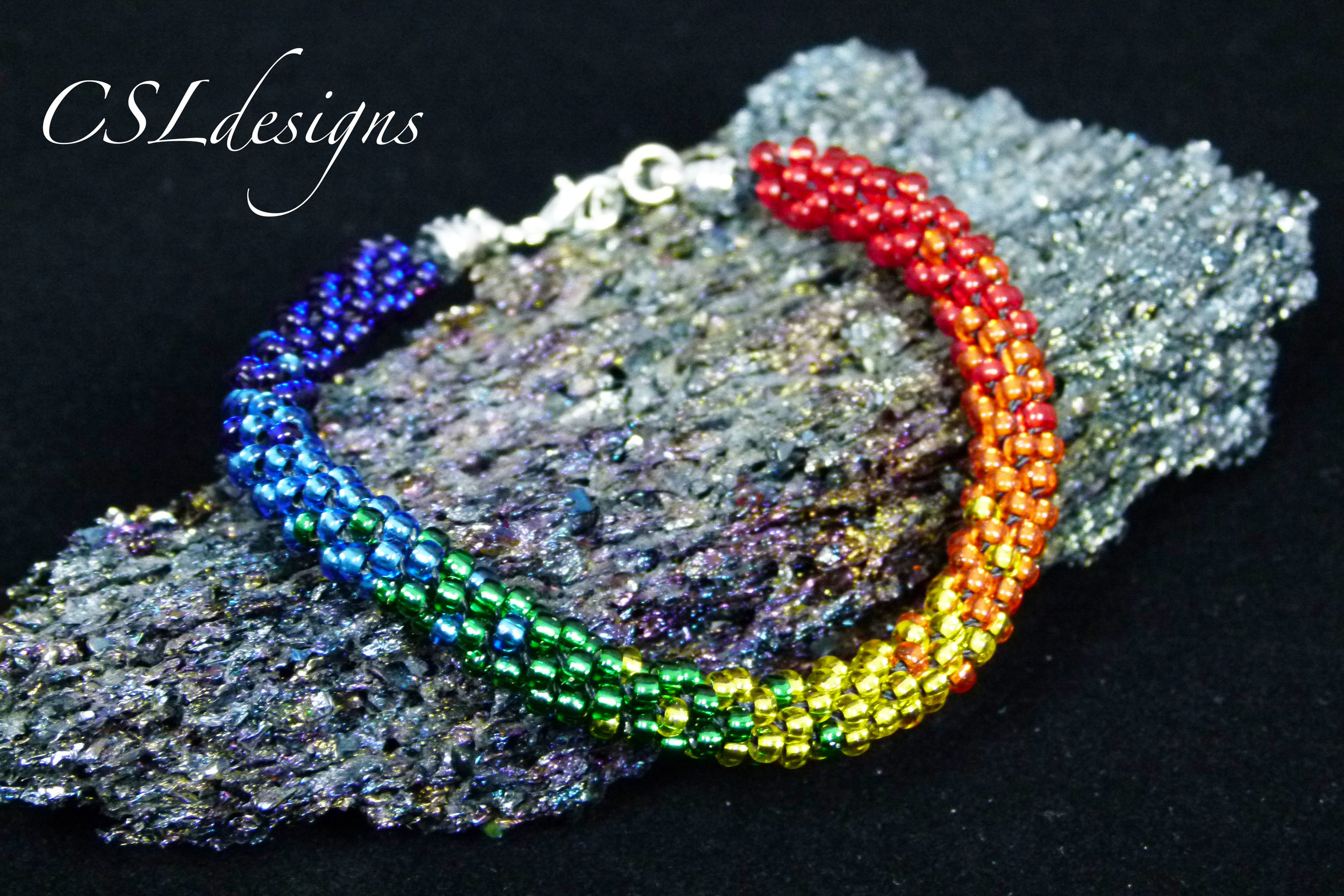 Rainbow beaded kumihimo bracelet picture for kit.jpg