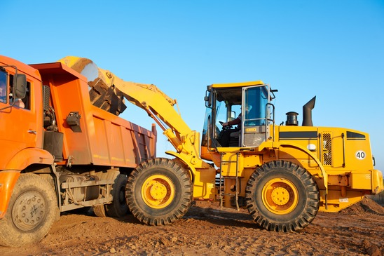 Inland Marine Equipment covered by Professional Insurors OKC construction insurance.