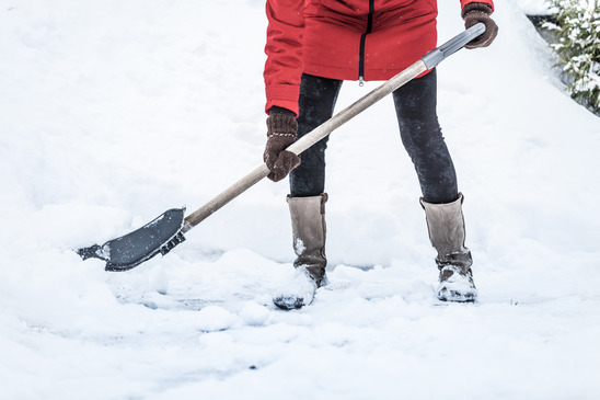 Shoveling the snow to keep Oklahoma commercial insurance from being used.